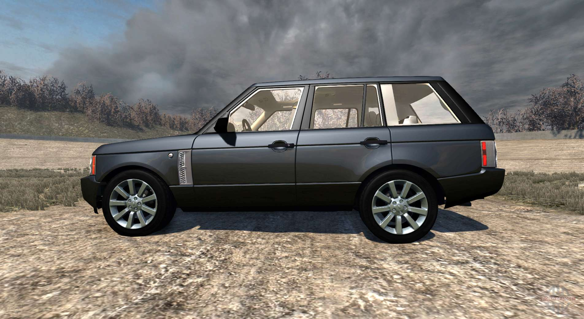 Range Rover Supercharged 2008 Black For Beamng Drive
