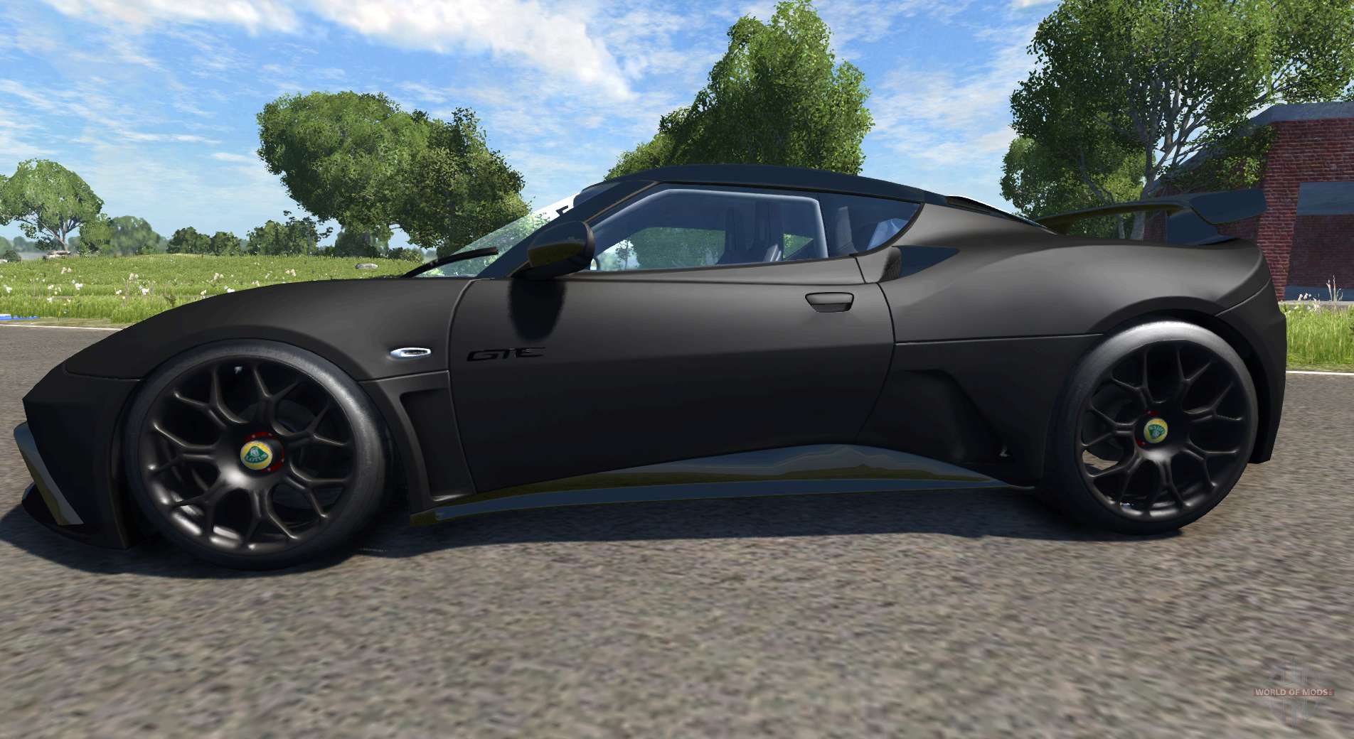 Lotus Evora Gte 2011 Black For Beamng Drive