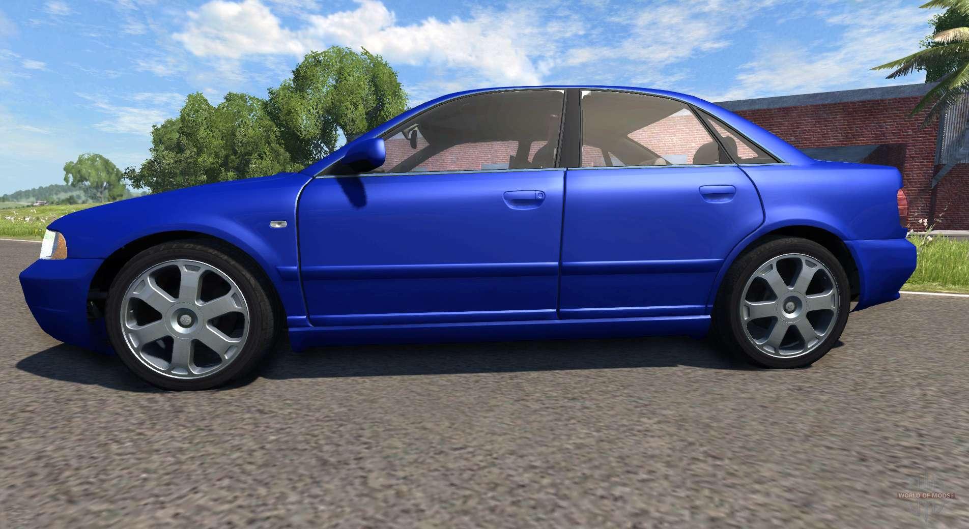 audi s4 2000  pantone reflex blue c  for beamng drive