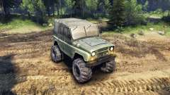 The UAZ-469 with new wheels