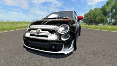 Fiat 500 Abarth White and Black