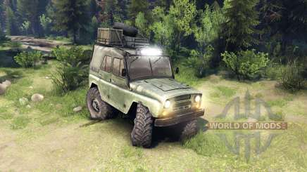 The UAZ-469 vehicle for Spin Tires
