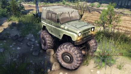 УАЗ-469 Monster Truck v2 for Spin Tires