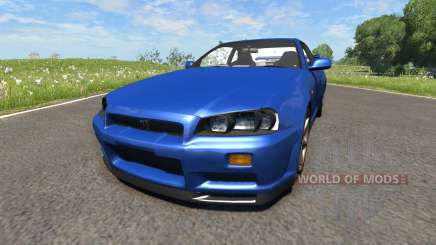 Nissan Skyline R34 for BeamNG Drive