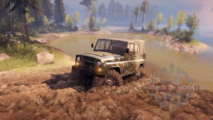 УАЗ-469 Monster Truck v1.1 for Spin Tires