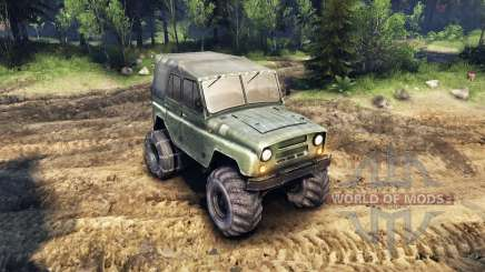 The UAZ-469 with new wheels for Spin Tires