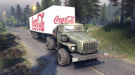 Semi-Coca-Cola for Spin Tires