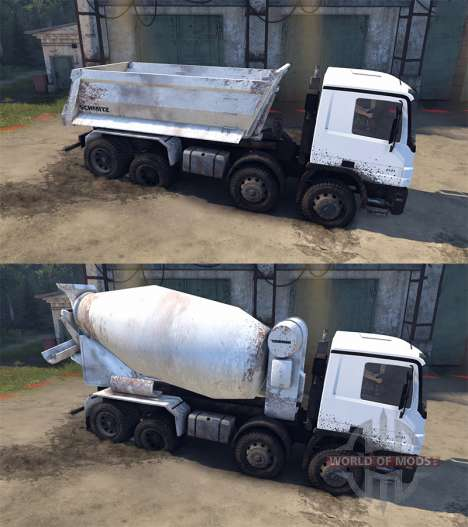 Mercedes-Benz Actros Tipper for Spin Tires