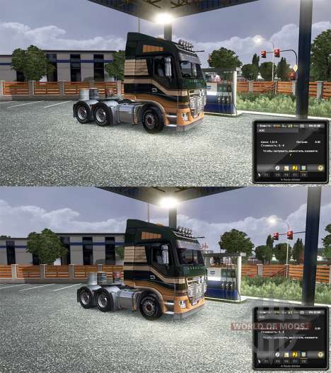 Change of prices for petrol for Euro Truck Simulator 2