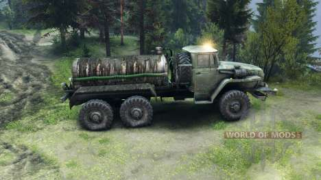 Tank truck for Spin Tires