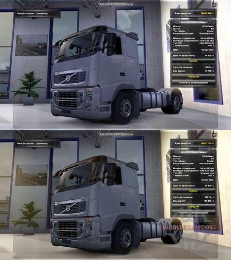 Realistic physics v1.3 for Euro Truck Simulator 2