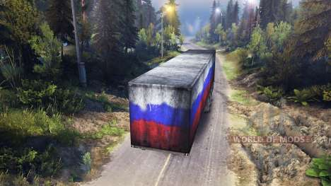 Semitrailer Russia for Spin Tires