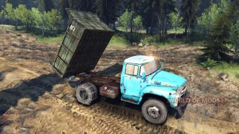 The automobile ZIL-MMZ-4502 v1.1 for Spin Tires