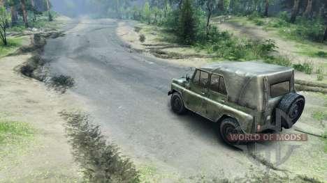 Asphalt road for Spin Tires