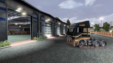 Previously garage door opening for Euro Truck Simulator 2