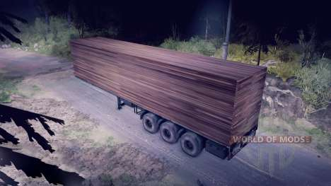 Wooden trailer for Spin Tires