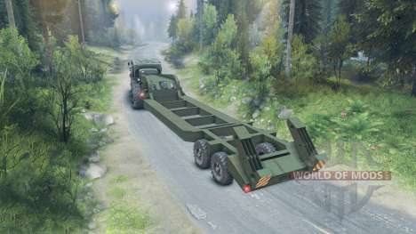 Semitrailer CHMZAP-5247 for Spin Tires