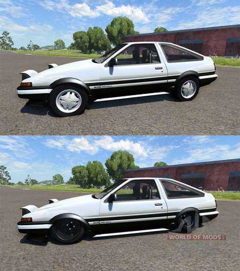 Toyota AE86 Sprinter Trueno for BeamNG Drive