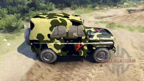 Camouflage UAZ for Spin Tires