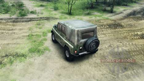 Bumper and wheel UAZ for Spin Tires