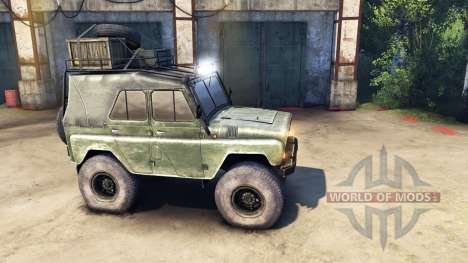 Modernized UAZ-469 v1.1 for Spin Tires