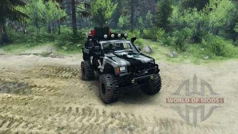 Jeep Cherokee XJ v1.1 Camo for Spin Tires