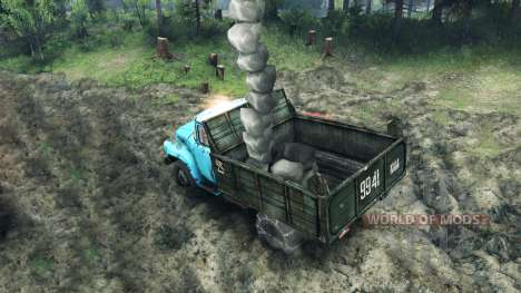 Load of rocks for Spin Tires