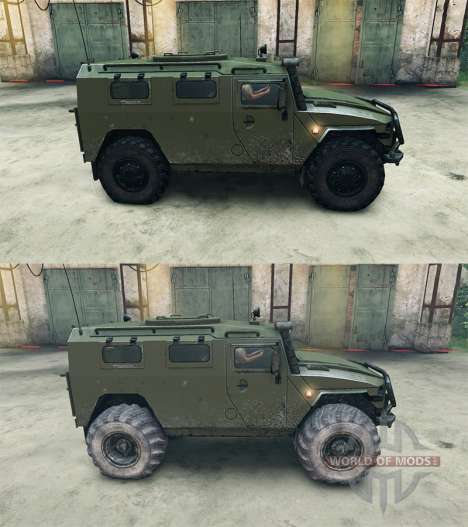 GAZ-2975 Tiger for Spin Tires