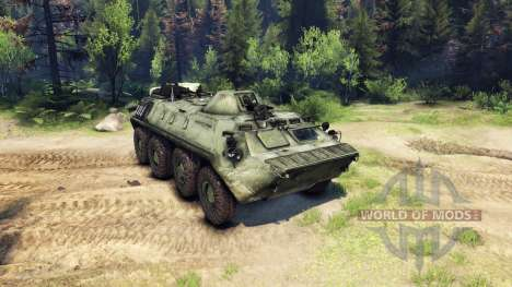 The BTR-70 for Spin Tires