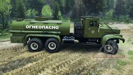 KrAZ-255B AC 8.5 Flammable v2.0 for Spin Tires