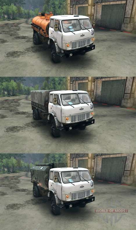 MAZ-509 for Spin Tires