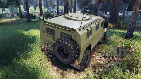 GAZ-2975 Tiger for Spin Tires
