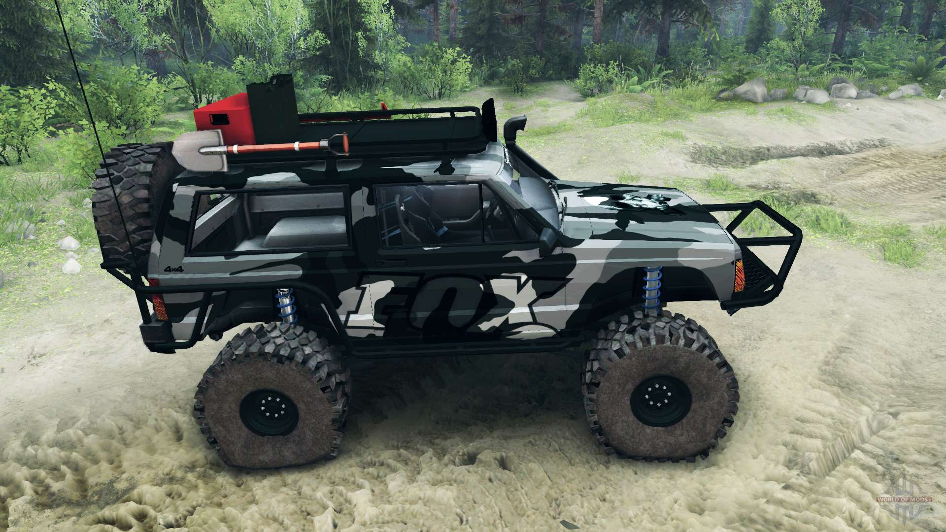 Jeep Cherokee Xj V1 1 Camo For Spin Tires
