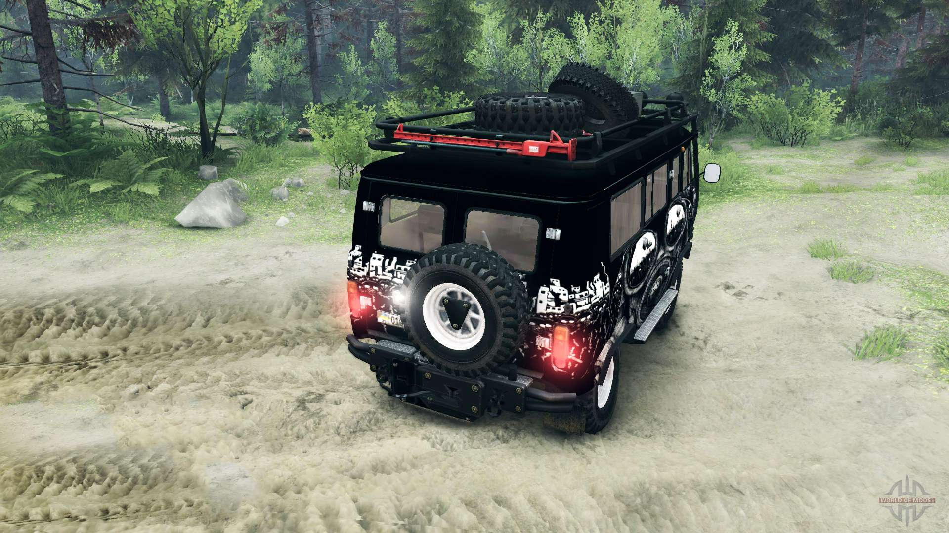 Uaz 3909 off road v3 0 for spin tires for Car carriage