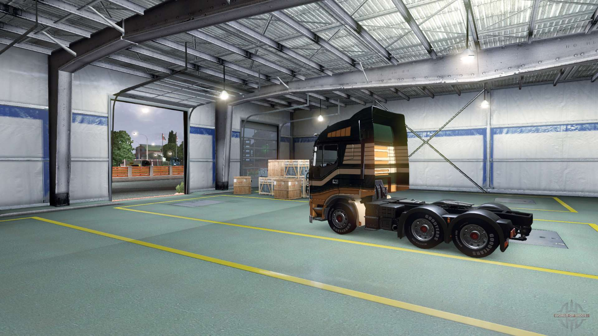 Garages For Trucks : Previously garage door opening for euro truck simulator