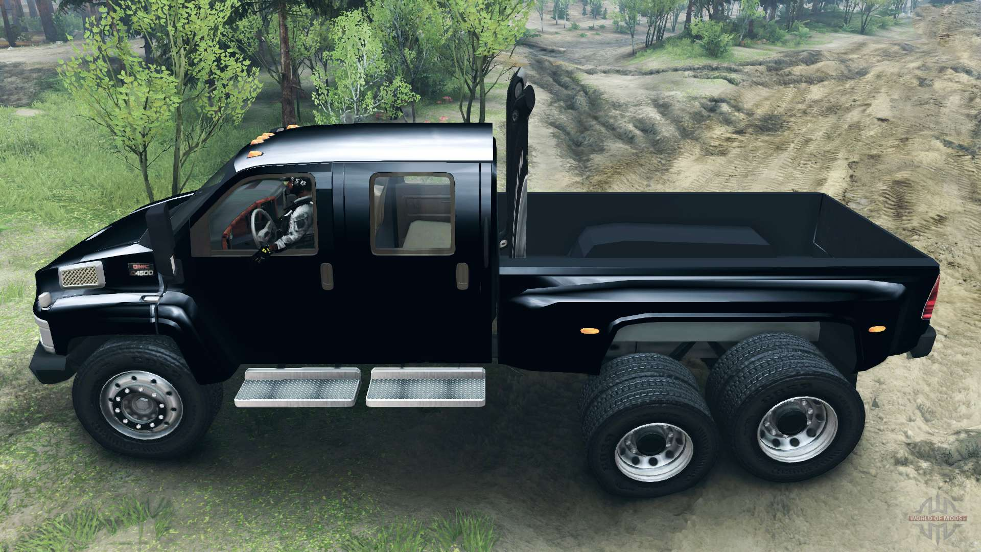 Gmc C4500 Topkick 6x6 For Spin Tires