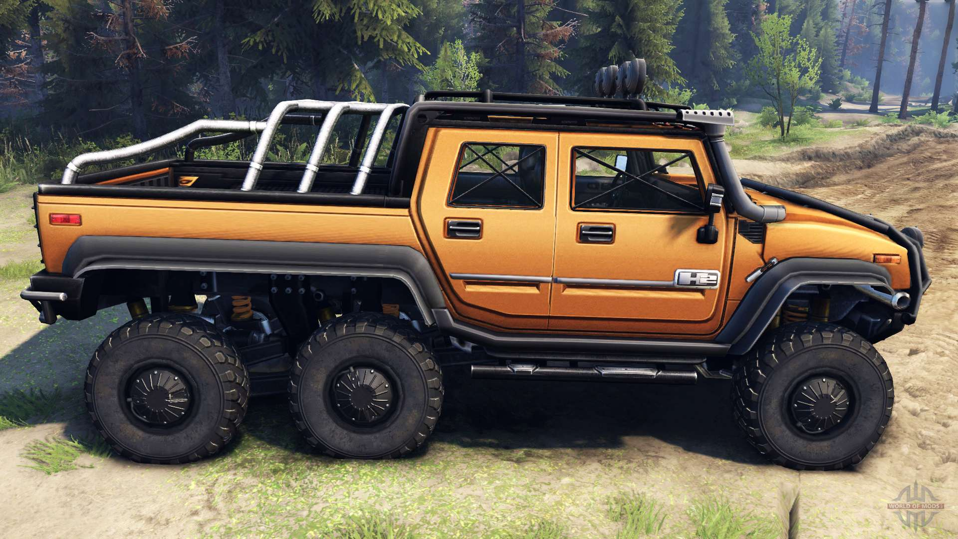 hummer h2 sut 6x6 for spin tires. Black Bedroom Furniture Sets. Home Design Ideas