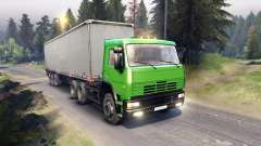KamAZ-6522 in green color for Spin Tires
