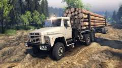 KrAZ-6437 CabCol v2 for Spin Tires
