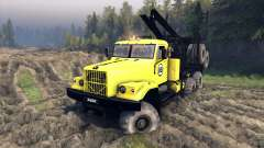 KrAZ-255B in a yellow color-KrAZ 88-