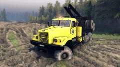 KrAZ-255B in a yellow color-KrAZ 88-
