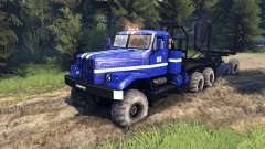 KrAZ-255B in blue color-KrAZ Power 8-