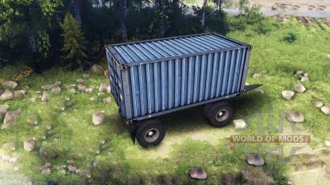 Trailer KAMAZ v3 for Spin Tires