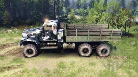 KrAZ-255 camo v3 for Spin Tires