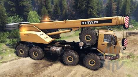 KrAZ-E v2.0 Yellow for Spin Tires