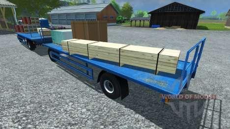 Trailer for pallets LIZARD for Farming Simulator 2013
