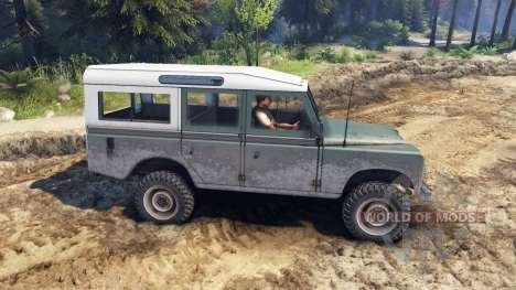 Land Rover Defender Cyan for Spin Tires