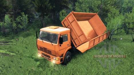 New body for KAMAZ-6520 for Spin Tires