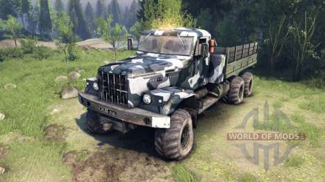 KrAZ-255 camo v3 for Spin Tires