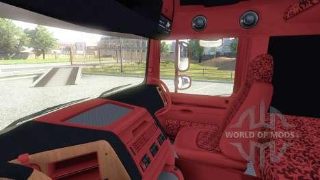 Interior for DAF-Red & Orange for Euro Truck Simulator 2